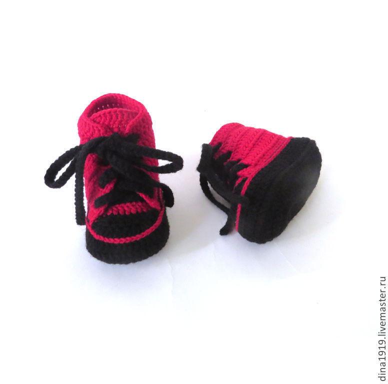 botines zapatos, ganchillo zapatos rojos – compra u ordena en la ...