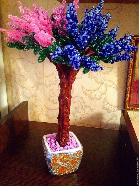 Деревья ручной работы. Ярмарка Мастеров - ручная работа. Купить Сирень из бисера. Handmade. Сирень из бисера, подарок девушке