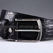 Аксессуары handmade. Livemaster - original item Crocodile leather belt IMA3121B. Handmade.