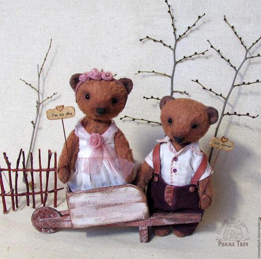 Мишки Тедди Молодожены  Мишки Тедди 15 см Мишки Тедди ручная работа