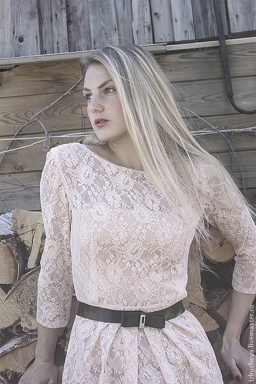 Платья ручной работы. Ярмарка Мастеров - ручная работа. Купить Платье кремовое гипюровое. Handmade. Кремовый, платье из гипюра