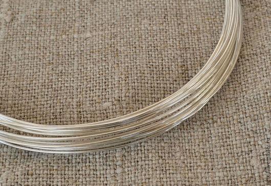Для украшений ручной работы. Ярмарка Мастеров - ручная работа. Купить Проволока серебро 925 0,8мм, 0.5м. Handmade.