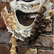 """Аксессуары ручной работы. Ярмарка Мастеров - ручная работа Шарф разноцветный универсальный шарфик """"Ажурный"""". Handmade."""