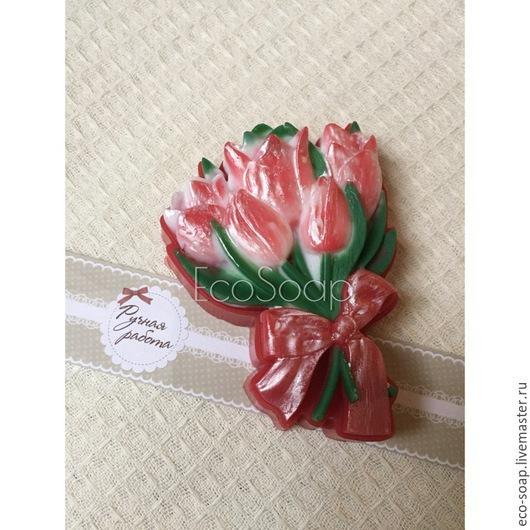 `Букет тюльпанов`. Натуральное мыло ручной работы.  Handmade.