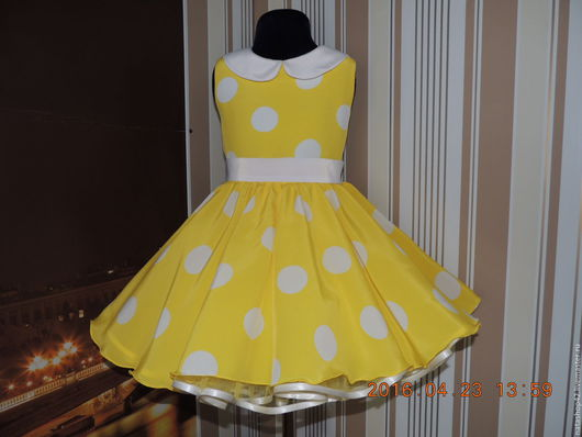"""Одежда для девочек, ручной работы. Ярмарка Мастеров - ручная работа. Купить Платье в стиле """"Стиляги"""". Handmade. Желтый, сделаю на заказ"""