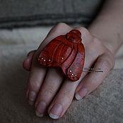 Украшения ручной работы. Ярмарка Мастеров - ручная работа Кольцо деревянное с серебром Мотылек. Handmade.