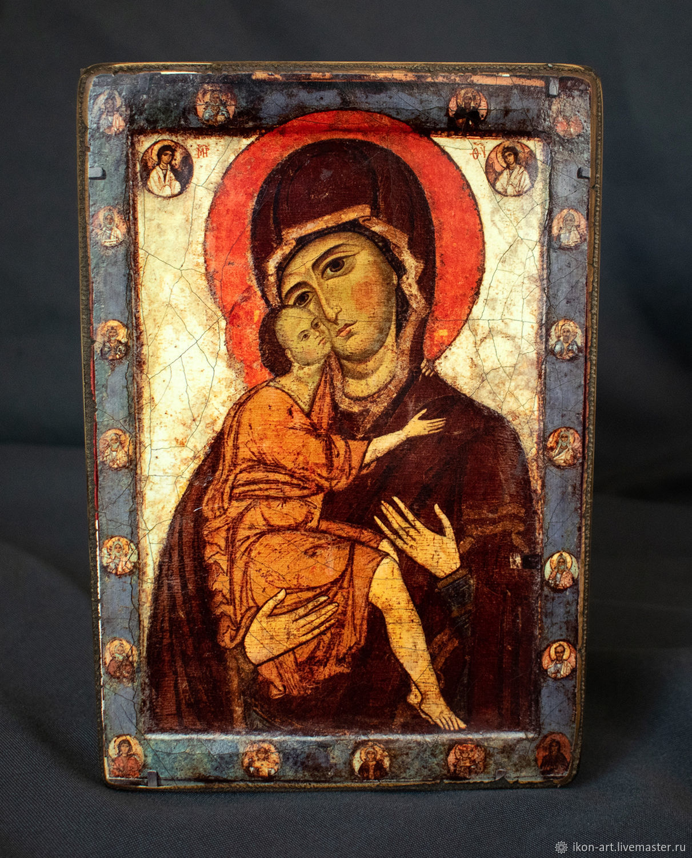 Икона деревянная с ковчегом «Богоматерь Умиление (Белозерская)», Иконы, Симферополь,  Фото №1