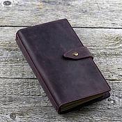 Канцелярские товары handmade. Livemaster - original item Leather notebook, travelbook with pockets. Handmade.