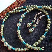 Украшения handmade. Livemaster - original item SET of 3: Necklace, bracelet and earrings. Ural Coil.. Handmade.