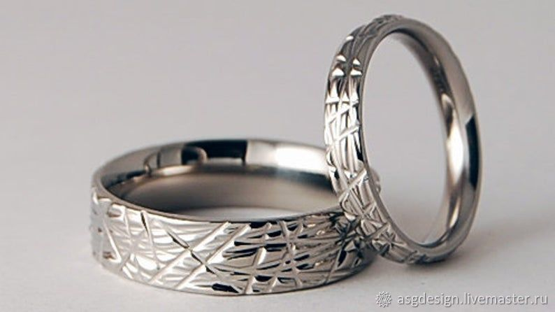 A pair of titanium rings, Wedding rings, Moscow,  Фото №1
