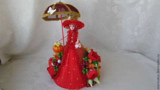 """Букеты ручной работы. Ярмарка Мастеров - ручная работа. Купить """"Королева осени"""". Handmade. Ярко-красный, букет, подарок женщине"""