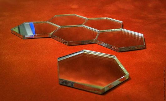 Зеркала ручной работы. Ярмарка Мастеров - ручная работа. Купить Зеркальная мозаика Соты. Handmade. Акриловое зеркало, зеркало