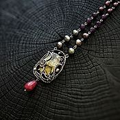 """Украшения ручной работы. Ярмарка Мастеров - ручная работа """"Dorwinion in my mind"""" Серебряное ожерелье. Handmade."""