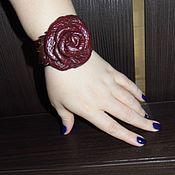 """Украшения ручной работы. Ярмарка Мастеров - ручная работа браслет """"Роза бордо"""". Handmade."""
