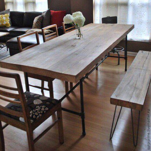 Мебель ручной работы. Ярмарка Мастеров - ручная работа. Купить Барная стойка/стол в loft стиле. Handmade. Стол, столовая, трубы