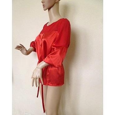 Одежда ручной работы. Ярмарка Мастеров - ручная работа Блузка  Luba  / итальянский шелк, шифон. Handmade.