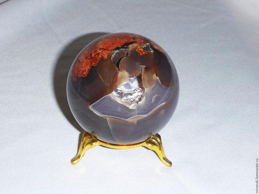 """Элементы интерьера ручной работы. Ярмарка Мастеров - ручная работа. Купить """"Тайничок""""шар из агата. Handmade. Шар из камня, окаменелое дерево"""