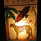 Светильник с витражной росписью\r\nАфрика.\r\nХудожник-витражист: Екатерина Макарова
