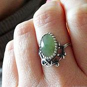 Украшения handmade. Livemaster - original item Silver ring with jade. Handmade.
