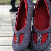 """Обувь ручной работы. Ярмарка Мастеров - ручная работа """"Загадка для Веры"""" валяные тапочки-балетки. Handmade."""