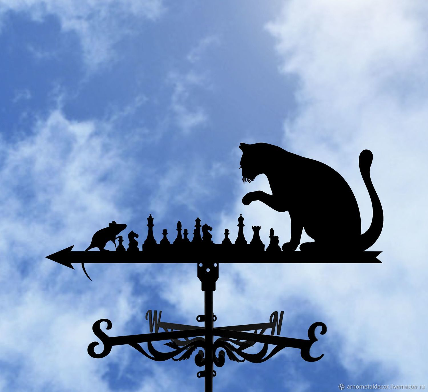 Weather vane on the roof ' Cat and Mouse', Vane, Ivanovo,  Фото №1