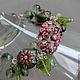 Браслет лэмпворк Аметистовые Цветы в зелени:) Браслет выполнен из авторских стеклянных бусин ручной работы в технике лэмпворк