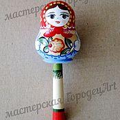 Куклы и игрушки handmade. Livemaster - original item Rattle-matryoshka (Gorodets painting). Handmade.