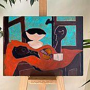 Картины и панно handmade. Livemaster - original item Picasso. Still life with bust and guitar (1925), oil copy. Handmade.