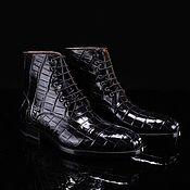 Ботинки ручной работы. Ярмарка Мастеров - ручная работа Полуботинки из кожи крокодила, премиум класса. Handmade.