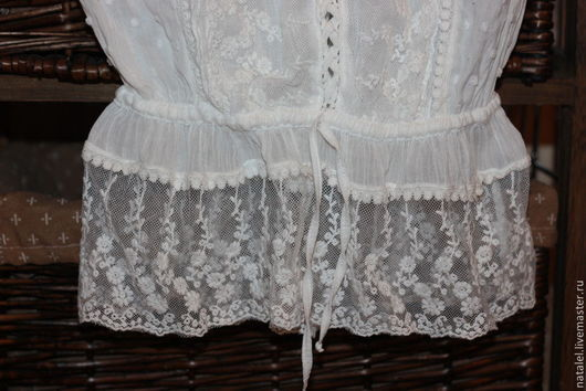 """Блузки ручной работы. Ярмарка Мастеров - ручная работа. Купить Блузка """"Provence-4"""" белая с кружевом  бохо кантри прованс. Handmade."""