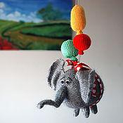 """Материалы для творчества ручной работы. Ярмарка Мастеров - ручная работа Мастер-класс """"Воздушный Летающий Слон с 3 разноцветными шарами."""". Handmade."""