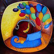 """Посуда ручной работы. Ярмарка Мастеров - ручная работа Декоративная тарелка""""Шарики для гнома"""". Handmade."""