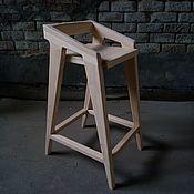 Для дома и интерьера ручной работы. Ярмарка Мастеров - ручная работа Дизайнерский барный стул из массива №1. Handmade.
