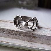 Кольца ручной работы. Ярмарка Мастеров - ручная работа Широкое серебряное кольцо, серебряные украшения, серебряная свадьба. Handmade.