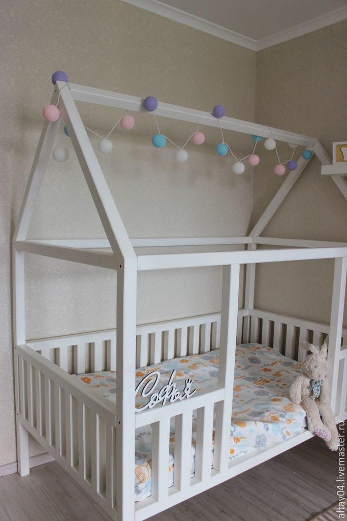 Cot a house of cedar For Sophia, Bed, Turochak,  Фото №1