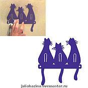 """Для дома и интерьера ручной работы. Ярмарка Мастеров - ручная работа ключница """" три кота"""". Handmade."""