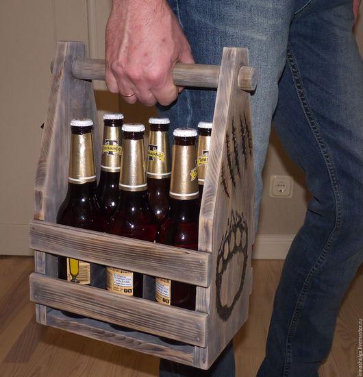 """Подарки для мужчин, ручной работы. Ярмарка Мастеров - ручная работа. Купить Ящик под пиво """"BEAR"""". Handmade. Комбинированный"""