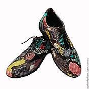 Обувь ручной работы handmade. Livemaster - original item Sneakers from Python COMFORTE. Handmade.