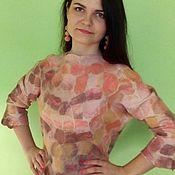 Одежда ручной работы. Ярмарка Мастеров - ручная работа Кофта валяная «Мозаика». Handmade.
