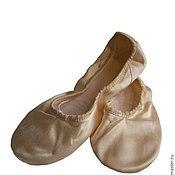 Обувь ручной работы. Ярмарка Мастеров - ручная работа Балетки атласные для танца, балета. Handmade.
