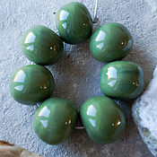 Материалы для творчества ручной работы. Ярмарка Мастеров - ручная работа Комплект из 7 полых оливковых бусин. Handmade.