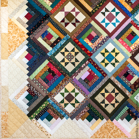 """Текстиль, ковры ручной работы. Ярмарка Мастеров - ручная работа. Купить Пэчворк покрывало """"Созвездие 1"""" №25. Handmade. Покрывало"""