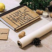 Блокноты ручной работы. Ярмарка Мастеров - ручная работа Блокнот из дерева и экокожи. Handmade.