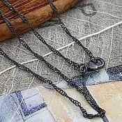 Материалы для творчества handmade. Livemaster - original item Chain with lock ready 44 cm black (Ref. 3165). Handmade.