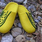 """Обувь ручной работы. Ярмарка Мастеров - ручная работа Валяные тапочки """" Горошины"""". Handmade."""
