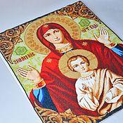 Иконы ручной работы. Ярмарка Мастеров - ручная работа Икона из бисера в технике мозаичного плетения Знамение. Handmade.