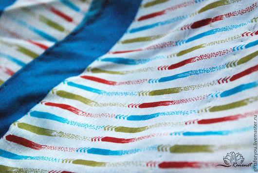 """Валяние ручной работы. Ярмарка Мастеров - ручная работа. Купить Отрез винтажного сари """"Полоски"""" 100% шелк 2м.. Handmade."""