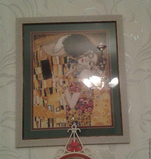 """Люди, ручной работы. Ярмарка Мастеров - ручная работа. Купить Г.Климт """"Поцелуй"""". Handmade. Климт поцелуй, картина в подарок"""