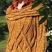 """Одежда ручной работы. Ярмарка Мастеров - ручная работа Вязаный оранжевый свитер """"Теплый вечер"""". Handmade."""