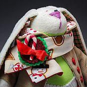 Подарки к праздникам ручной работы. Ярмарка Мастеров - ручная работа Рождественский тильда-зайчик. Handmade.
